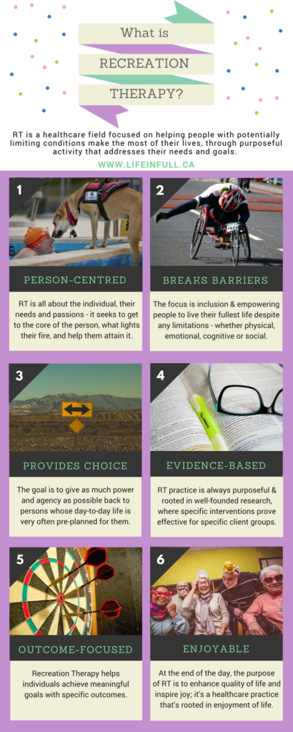 What is recreation therapy infographic therapeutic recreation